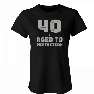 40 & Aged To Perfection Junior Fit Bella Favorite Tee