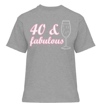 40 & Fabulous Misses Relaxed Fit Gildan Heavy Cotton Tee