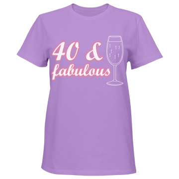 40 & Fabulous Misses Relaxed Fit Port & Company Essential Tee