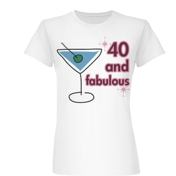 40 And Fabulous Junior Fit Basic Bella Favorite Tee