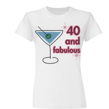 40 And Fabulous Junior Fit Basic Tult