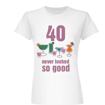 40 Never Looked So Good Junior Fit Basic Bella Favorite Tee