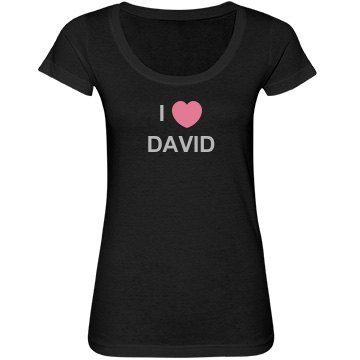 I Heart David Junior Fit Bella Sheer Longer Length Scoopneck Tee