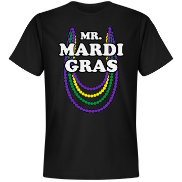 Mr. Mardi Gras Unisex Gildan Heavy Cotton Crew Neck Tee