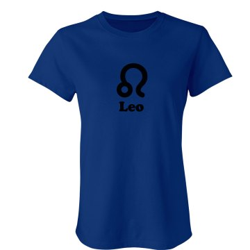 Astrological Leo Sign Junior Fit Bella Crewneck Jersey Tee