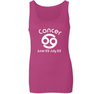 Cancer Tank Junior Fit Bella Sheer Longer Length Rib Tank Top