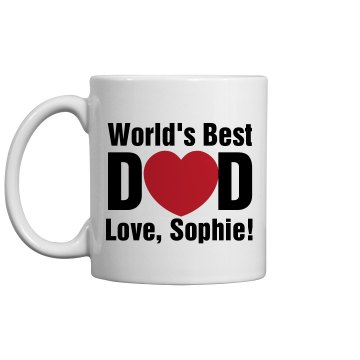 World's Best Dad Mug 11oz Ceramic Coffee Mug