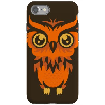 Orange Owl iPhone Rubber iPhone 4 & 4S Case Black