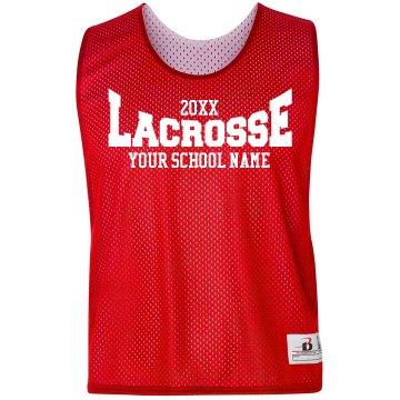 Lacrosse Logo Pinnie Badger Sport Lacrosse Reversible Practice Pinnie