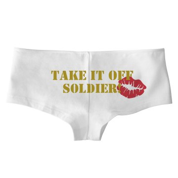 Take It Off Soldier w/ Bk Bella Hotshort