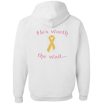 Worth The Wait Junior Fit Bella Fleece Raglan Zip Hoodie