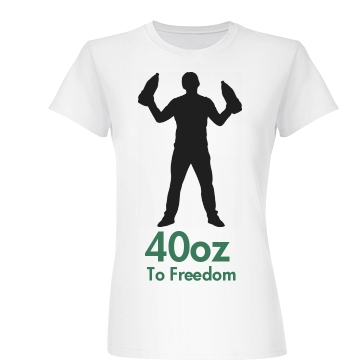 40oz To Freedom Junior Fit Basic Bella Favorite Tee