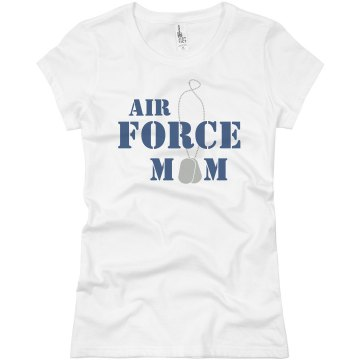 Air Force Mom Junior Fit Basic Bella Favorite Tee