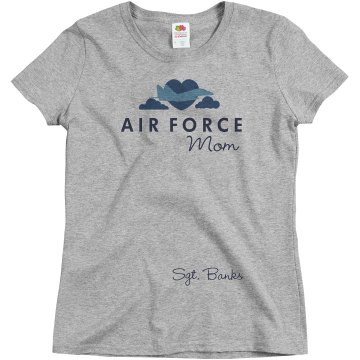 Air Force Mom Misses Relaxed Fit Basic Gildan Ultra Cotton Tee