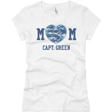 Mom AF logo Junior Fit Basic Bella Favorite Tee