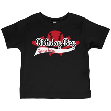 Baseball Birthday Boy Toddler Gildan Ultra Cotton Crew Neck Tee