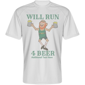 Will Run 4 Beer Unisex Gildan Heavy Cotton Crew Neck Tee
