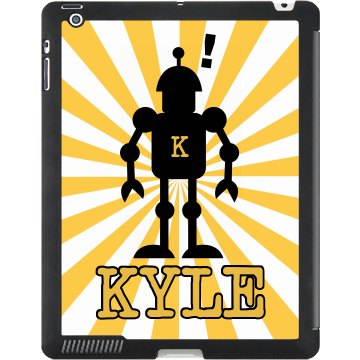 Robot Name iPad Case Black iPad Smart Cover
