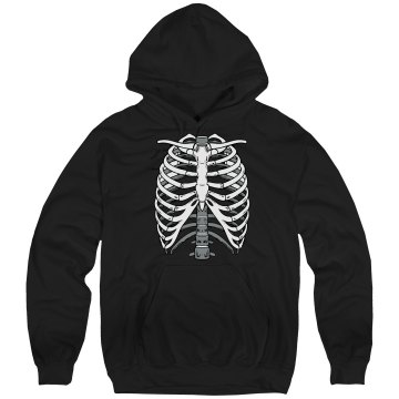 Trick or Treat w/ Back Unisex Hanes Ultimate Cotton Heavyweight Hoodie