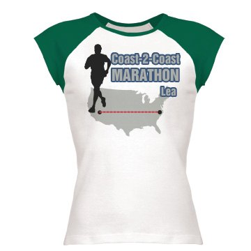 Marathon Tee Junior Fit Bella 1x1 Rib Ringer Tee