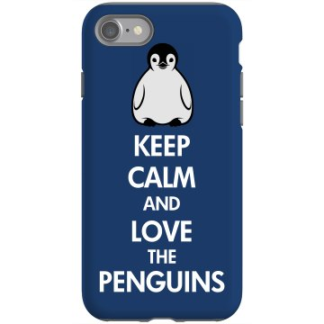 Keep Calm Peguin iPhone Rubber iPhone 4 & 4S Case Black