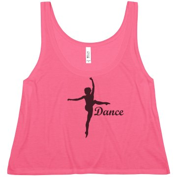 Dance Crop Tee Misses American Apparel Neon Oversized Crop Tank