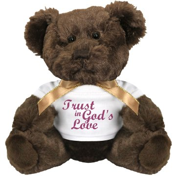 Trust in Gods Love Plush Pink Piggie