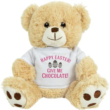 Happy Easter Chocolate Plush Pink Piggie