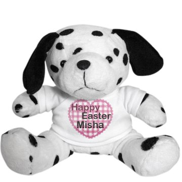Happy Easter Puppy Plush Dalmatian Dog