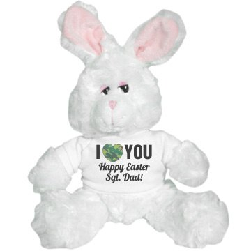 Military Happy Easter Medium Plush Teddy Bear