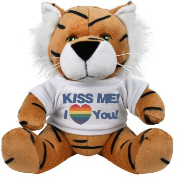 Kiss Me Pride Love Plush Tiger