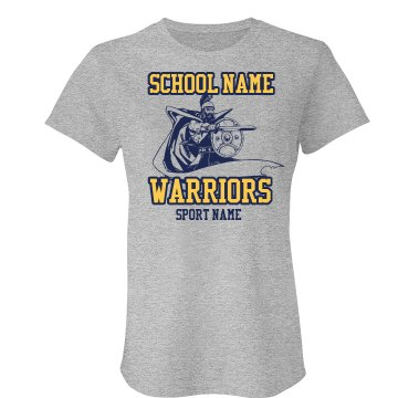 Warriors Mascot Template Junior Fit American Apparel Fine Jersey Tee