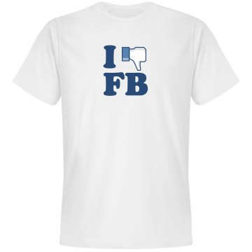 I Don&#x27;t Like Facebook Unisex Gildan SoftStyle Tee