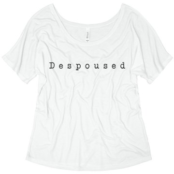 Despoused Junior Fit Bella Sheer Longer Length Scoopneck Tee