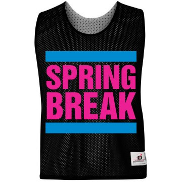Spring Break LAX Pinnie Badger Sport Lacrosse Reversible Practice Pinnie