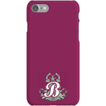 Custom B Monogrammed Case Plastic iPhone 5 Case White