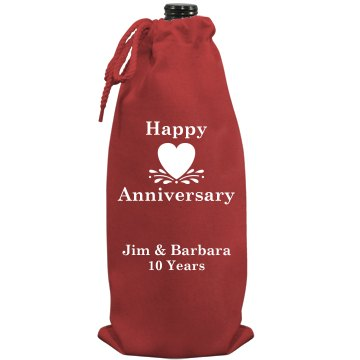 Anniversary Wine Time Port Authority Wine Bag