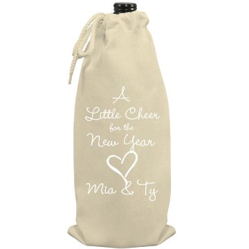 New Year Cheer Port Authority Wine Bag