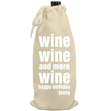Wine Wine Wine Port Authority Wine Bag