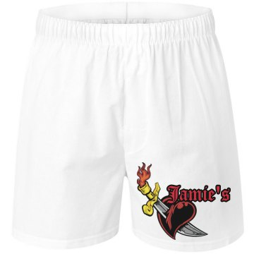 Romantic Heart Flame Unisex Robinson Boxer Shorts
