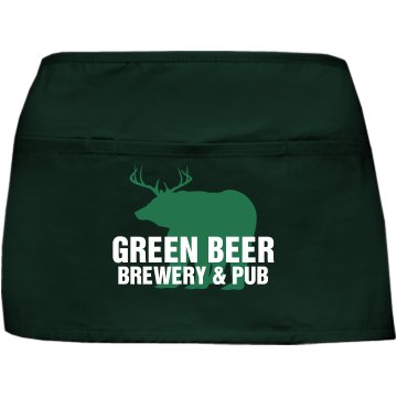 Green Beer Port Authority Waist Apron with Pockets