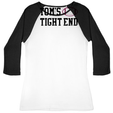Tom's Tight End Junior Fit Bella 1x1 Rib 3/4 Sleeve Raglan Tee