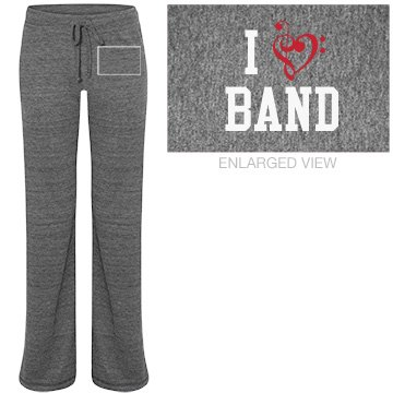 I Heart Band Sweatpants Junior Fit Bella Straight Leg Fleece Sweatpant