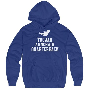 Trojan Armchair QB Unisex Hanes Ultimate Cotton Heavyweight Hoodie