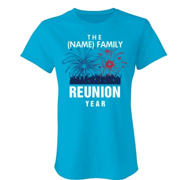 Fireworks Family Misses Relaxed Anvil Organic Tee