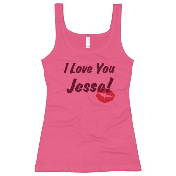 I Love You! Junior Fit Bella Longer Length 1x1 Rib Tank Top