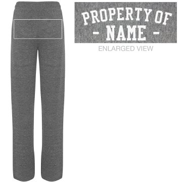 Property of Mike Sweats Junior Fit Bella Straight Leg Fleece Sweatpant