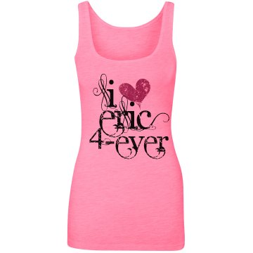 I Heart Eric Junior Fit Bella Sheer Longer Length Rib V-Neck Tee 