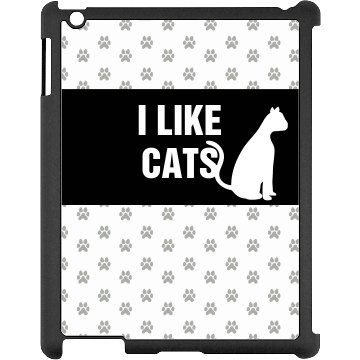 I Like Cats iPad Case Black iPad Snap-on Case