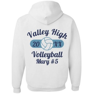 Valley High Volleyball Unisex Gildan Heavy Blend Full Zip Hoodie
